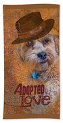 Adopted With Love Beach Towel