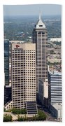 Aerial Of Downtown Indianapolis Indiana Beach Towel