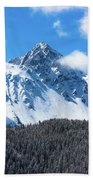 Aerial Of Mount Sneffels With Snow Beach Towel