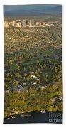 Aerial View Of Bellevue Skyline Beach Towel