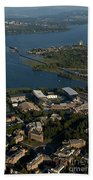 Aerial View Of The New Husky Stadium Beach Towel