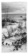 After The Storm Bw Beach Towel