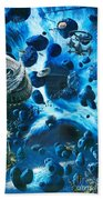 Alien Pirates  Beach Towel