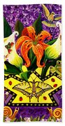 All Gods Creatures Beach Towel by Adele Moscaritolo