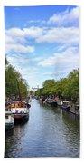 Amsterdam Canal Beach Towel