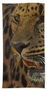 Amur Leopard 1 Beach Towel