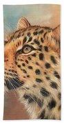 Amur Leopard Beach Towel