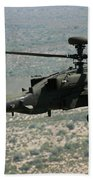 An Apache Ah64d Helicopter Beach Towel