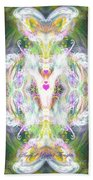 Angel Of Positive Thoughts Beach Towel