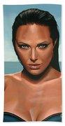 Angelina Jolie Beach Towel
