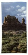 Arches National Park Sunrise Rock Formations  Beach Towel