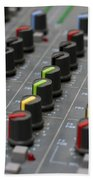 Audio Mixing Board Console Beach Towel