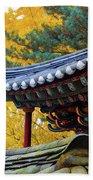 Autumn Color At Namsangol Folk Village Beach Towel