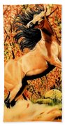Autumn Frolick Beach Towel