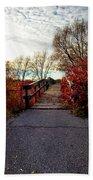 Autumn Journey Beach Towel
