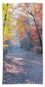 Autumn On Forbidden Drive Beach Towel