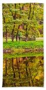 Autumn Reflection Beach Towel