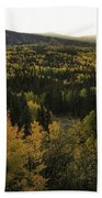 Autumn Sunrise Beach Towel