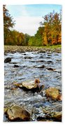 Babbling Brook Beach Towel by Frozen in Time Fine Art Photography