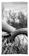 Backyard Baseball Memories Beach Towel