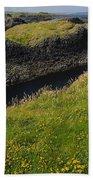 Ballintoy Harbor Beach Towel