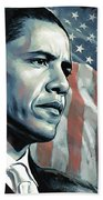 Barack Obama Artwork 2 Beach Towel