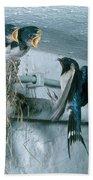 Barn Swallows Beach Towel