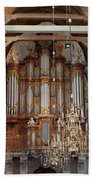 Baroque Grand Organ In Oude Kerk In Amsterdam Beach Towel
