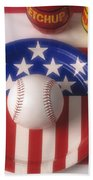 Baseball Dinner Beach Towel
