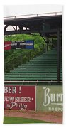 Baseball Field Burma Shave Sign Beach Towel by Frank Romeo