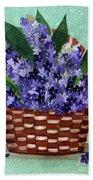 Basket Of Hyacinths  Beach Towel