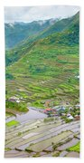 Batad Village And Unesco World Heritage Beach Towel