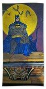 Batman On The Roof Top Beach Towel