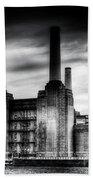 Battersea Power-station London Beach Towel