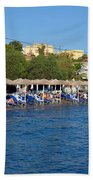 Beach In Aegina Town Beach Towel