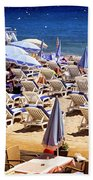 Beach In Cannes Beach Towel