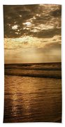 Beach Sunrise Beach Sheet by Nelson Watkins
