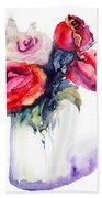 Beautiful Roses Flowers Beach Towel