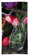 Beautiful Spring Tulips Beach Towel