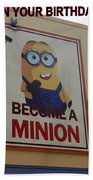 Become A Minion Beach Towel