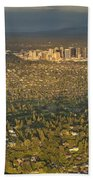 Bellvue Skyline At Sunset Beach Towel