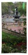 Bethesda Fountain - Central Park Nyc Beach Towel