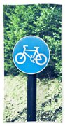 Bicyle Route Beach Towel