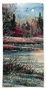 Birch Lake Beach Towel