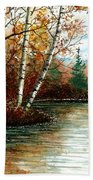 Birch Pond Beach Towel