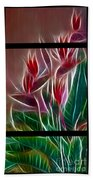 Bird Of Paradise Fractal Beach Towel by Peter Piatt