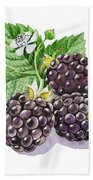 Artz Vitamins Series The Blackberries Beach Towel