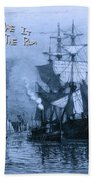 Blame It On The Rum Schooner Beach Towel by John Stephens