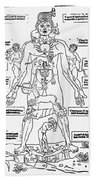 Bloodletting Chart, 1493 Beach Towel