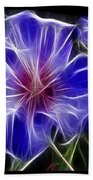 Blue Hibiscus Fractal Beach Towel